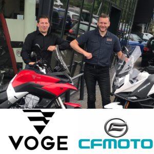 Met trots presenteren wij ons als dealer van CF Moto en Voge! Bezoek onze showroom om de modellen van beide merken te bewonderen en te ervaren.
